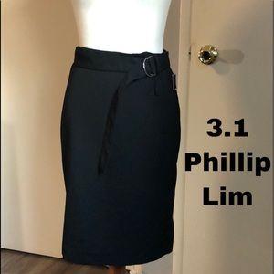 3.1 Phillip Lim wool pencil midi skirt